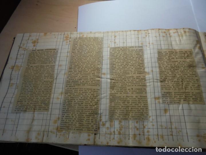 Tauromaquia: magnifico antiguo album con recortes de diarios toros y entradas - Foto 43 - 234708295