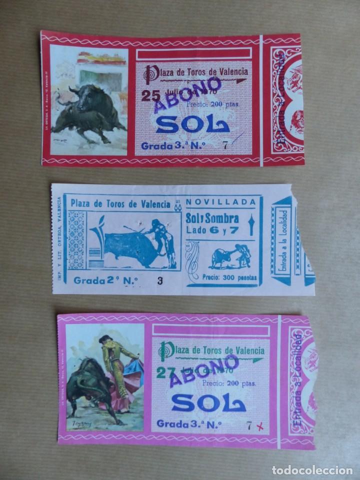 Tauromaquia: 107 ANTIGUAS ENTRADAS TOROS DE LOS AÑOS 1960-1970, VER FOTOS ADICIONALES - Foto 3 - 234712390