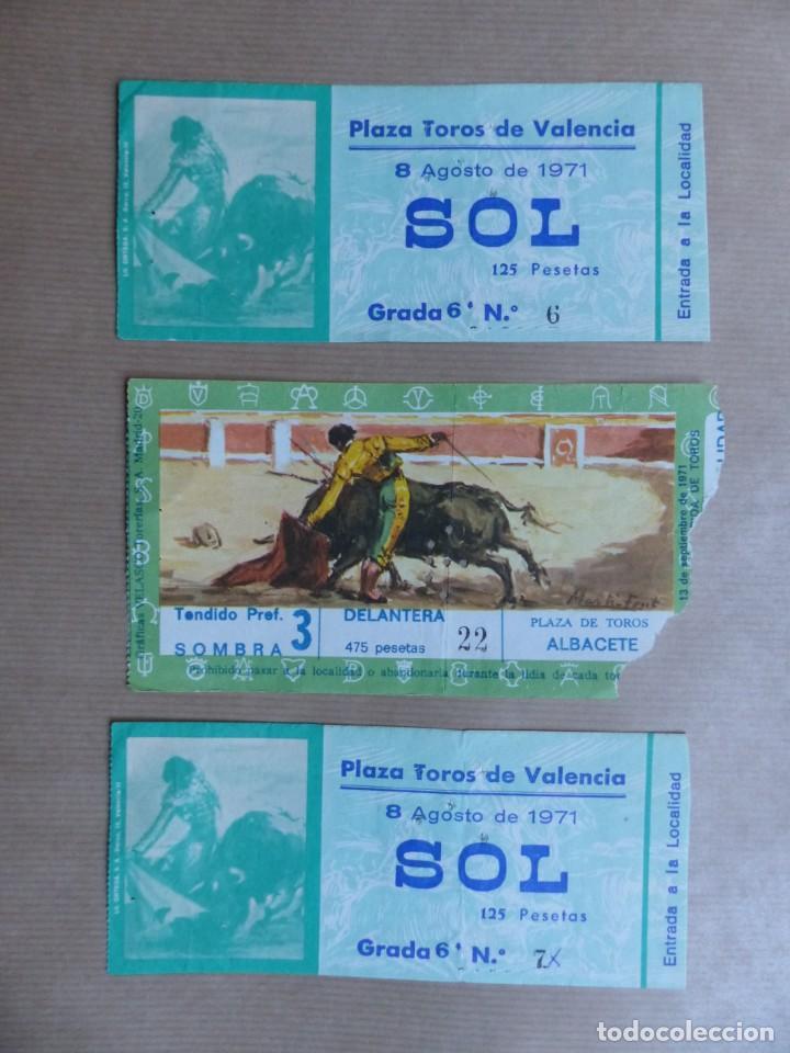 Tauromaquia: 107 ANTIGUAS ENTRADAS TOROS DE LOS AÑOS 1960-1970, VER FOTOS ADICIONALES - Foto 19 - 234712390