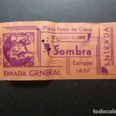 Tauromaquia: CIEZA MURCIA 1950 ENTRADA PLAZA DE TOROS SOMBRA. Lote 235634345
