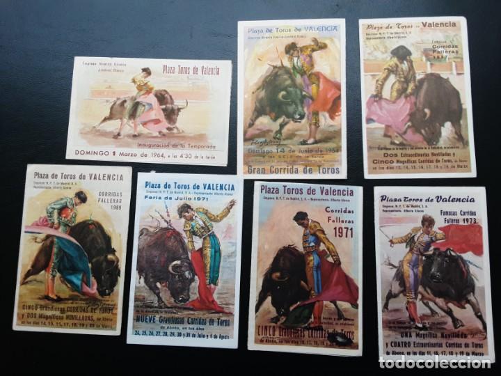 7 PROGRAMAS BOLSILLO DE TOROS, VALENCIA AÑOS 60 Y 70 (Coleccionismo - Tauromaquia)