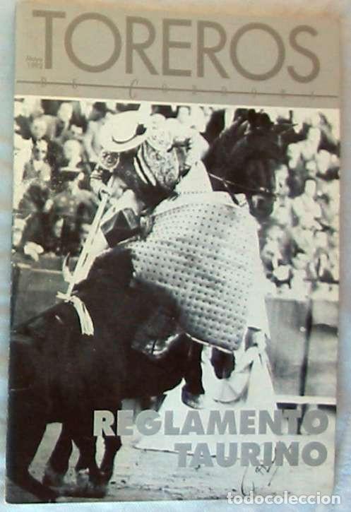 TOREROS - REGLAMENTO TAURINO - 1992 - VER DESCRIPCIÓN (Coleccionismo - Tauromaquia)