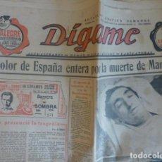 Tauromaquia: MUERTE DE MANOLETE PERIODICOS DIGAME ORIGINAL. Lote 236160830