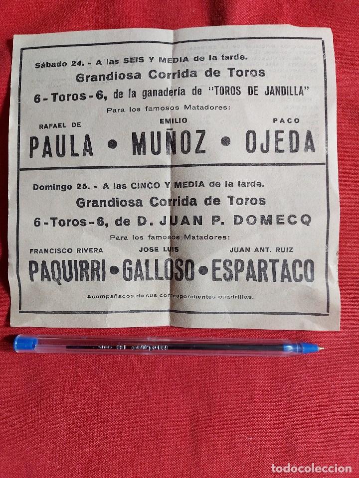 Tauromaquia: PROGRAMA * PLAZA DE TOROS JEREZ * AÑO 1983 paula , muñoz, ojeda ,paquirri, galloso, espartaco - Foto 2 - 236365455