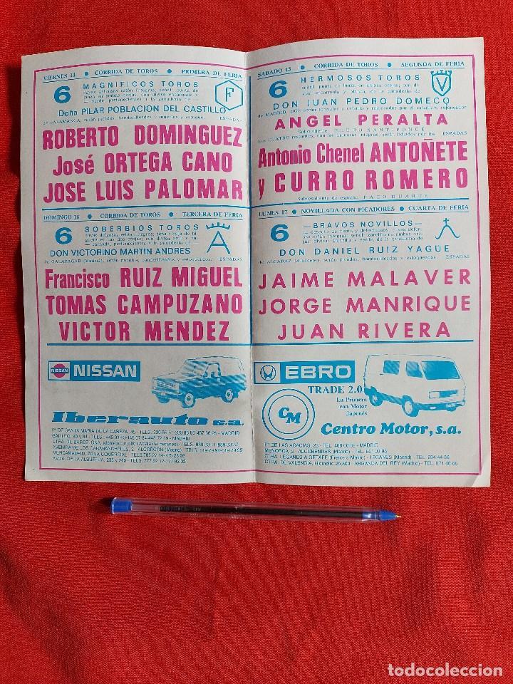 Tauromaquia: programa PLAZA de toros del MADRID AÑO 1984 - Foto 2 - 236446410