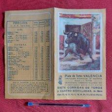 Tauromaquia: PROGRAMA PLAZA DE TOROS DE VALENCIA AÑO 1987. Lote 236446605