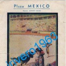 Tauromaquia: TOROS PLAZA MEXICO, 1952, MANOLO GONZALEZ, FERMIN RIVERA, HUMBERTO MORO Y EDUARDO VARGAS. Lote 240671380