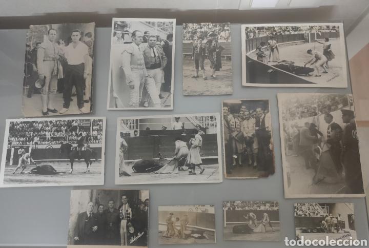 LOTE 12X ANTIGUAS FOTOS TOREROS Y TOROS AÑOS 60' Y 70 (Coleccionismo - Tauromaquia)