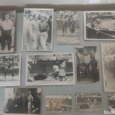 Tauromaquia: LOTE 12X ANTIGUAS FOTOS TOREROS Y TOROS AÑOS 60' Y 70. Lote 240905300