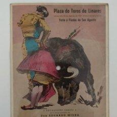 Tauromaquia: MANOLETE LINARES POSTAL DISCO 1947 PLAZA DE TOROS DE LINARES JUEVES DIA 28 AGOSTO DE 1947. Lote 241902400