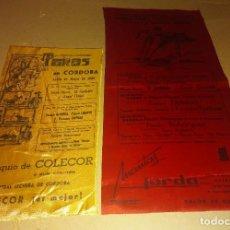 Tauromaquia: LOTE 2 CARTELES TELA SEDA PLAZA TOROS CORDOBA 1968 EL CORDOBES. Lote 243246735