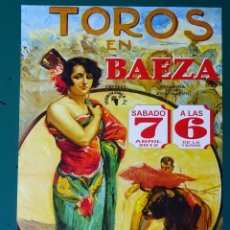Tauromaquia: CARTEL DE TOROS TAUROMAQUIA PLAZA DE TOROS BAEZA JAEN. 2012. PAQUIRRI FANDI SERGIO AGUILAR. 28CM. 68. Lote 243490995