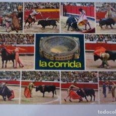 Tauromaquia: ANTIGUA POSTAL CPSM, LA CORRIDA, MULTI VISTAS, TOROS, VER FOTOS. Lote 244399555