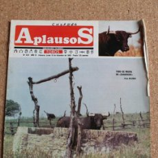 "Tauromaquia: REVISTA APLAUSOS Nº 429. 16 DICIEMBRE 1985.TORO DE MIURA EN ""ZAHARICHE"". Lote 244510980"