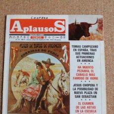 Tauromaquia: REVISTA APLAUSOS Nº 428. 9 DICIEMBRE 1985. PLAZA DE TOROS DE VALENCIA. Lote 244511140