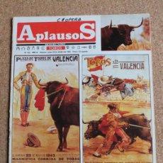 Tauromaquia: REVISTA APLAUSOS Nº 422. 28 OCTUBRE 1985. TOROS EN VALENCIA. Lote 244512755