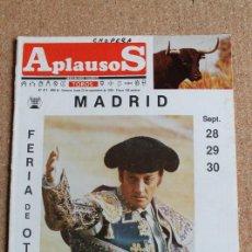 """Tauromaquia: REVISTA APLAUSOS Nº 417. 23 SEPTIEMBRE 1985. """" SE DESPIDE EL MAESTRO """". Lote 244513245"""