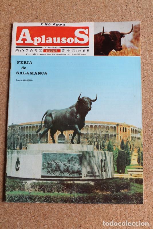REVISTA APLAUSOS Nº 415. 9 SEPTIEMBRE 1985. FERIA DE SALAMANCA (Coleccionismo - Tauromaquia)