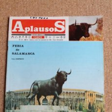 Tauromaquia: REVISTA APLAUSOS Nº 415. 9 SEPTIEMBRE 1985. FERIA DE SALAMANCA. Lote 244513915