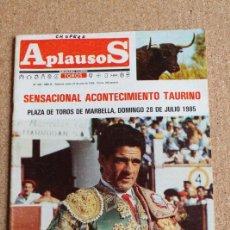 Tauromaquia: REVISTA APLAUSOS Nº 408. 22 JULIO 1985. PACO OJEDA. Lote 244514365