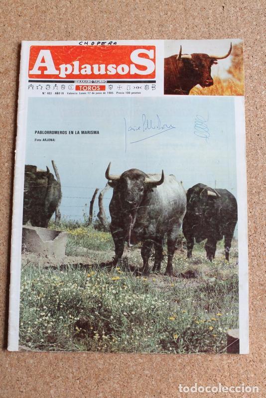 REVISTA APLAUSOS Nº 403. 17 JUNIO 1985. PABLORROMEROS EN LA MARISMA (Coleccionismo - Tauromaquia)