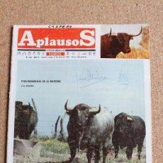 Tauromaquia: REVISTA APLAUSOS Nº 403. 17 JUNIO 1985. PABLORROMEROS EN LA MARISMA. Lote 244514650