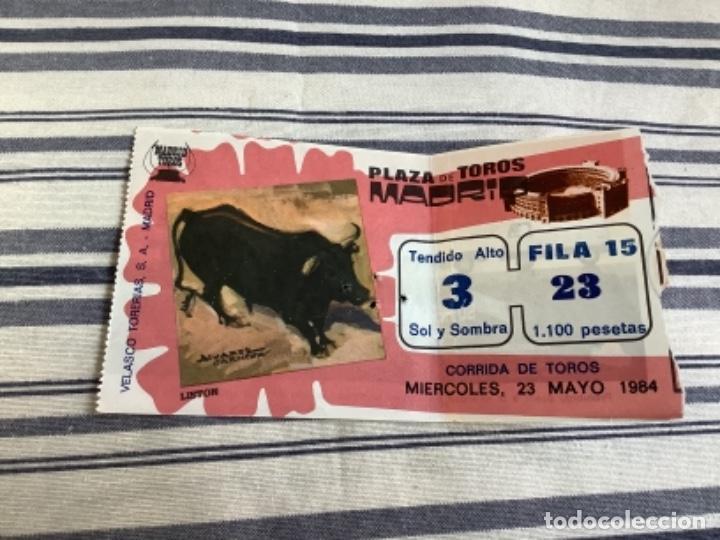 ENTRADA TOROS SEVILLA 1984 (Coleccionismo - Tauromaquia)