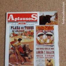 Tauromaquia: REVISTA APLAUSOS Nº 409. 29 JULIO 1985. PLAZA DE TOROS DE VALENCIA. Lote 244516770