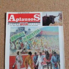 Tauromaquia: REVISTA APLAUSOS Nº 512. 20 JUILO 1987. TOROS EN AZPEITIA. Lote 244571790
