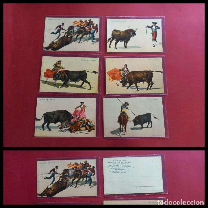 6 POSTALES DE TAUROMAQUIA ANTIGUAS -PRINCIPIOS DE SIGLO (Coleccionismo - Tauromaquia)