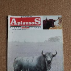 "Tauromaquia: REVISTA APLAUSOS Nº 558. 6 JUNIO 1989. ""BARATERO"", Nº43- PABLO ROMERO. Lote 291429393"