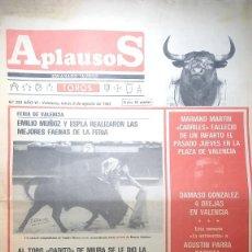 Tauromaquia: REVISTA APLAUSOS Nº 253. AÑO 1982. Lote 245581655