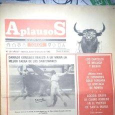Tauromaquia: REVISTA APLAUSOS Nº 251. AÑO 1982. Lote 245582370