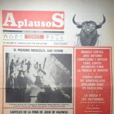Tauromaquia: REVISTA APLAUSOS Nº 249. AÑO 1982. Lote 245583255