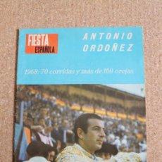 Tauromaquia: REVISTA FIESTA ESPAÑOLA Nº 372. 8 OCTUBRE 1968. ANTONIO ORDOÑEZ. Lote 245938910
