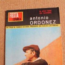 Tauromaquia: REVISTA FIESTA ESPAÑOLA Nº 342. 12 MARZO 1968. ANTONIO ORDOÑEZ. Lote 245943500