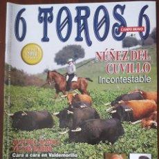 Tauromaquia: REVISTA DE ACTUALIDAD TAURINA 6 TOROS 6 Nº 865 25 ENERO 2011. Lote 246177405