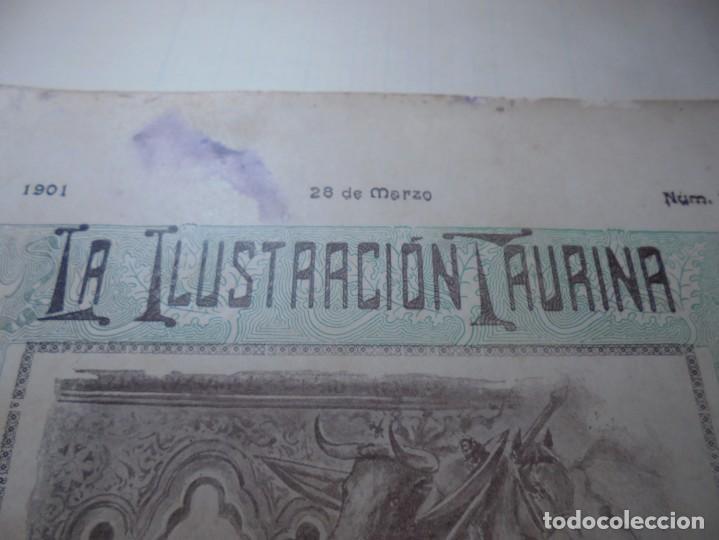 Tauromaquia: magnificas 8 revistas antiguas la ilustracion taurina del 1901 - Foto 4 - 247329780