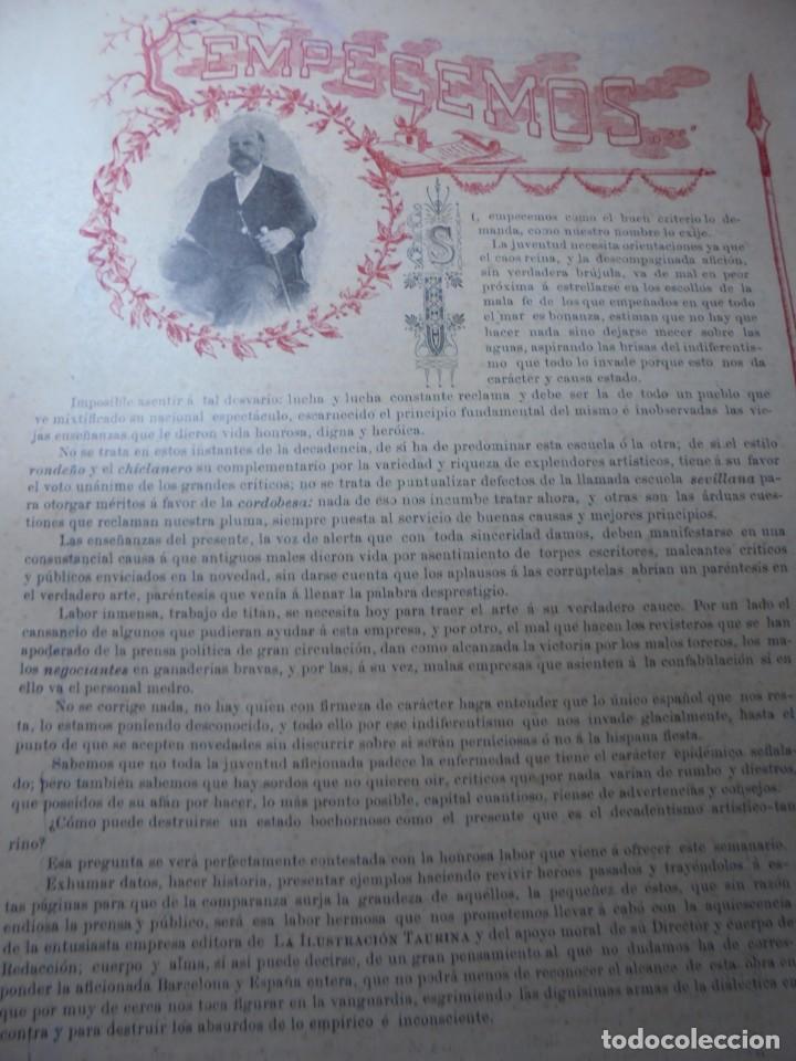 Tauromaquia: magnificas 8 revistas antiguas la ilustracion taurina del 1901 - Foto 12 - 247329780