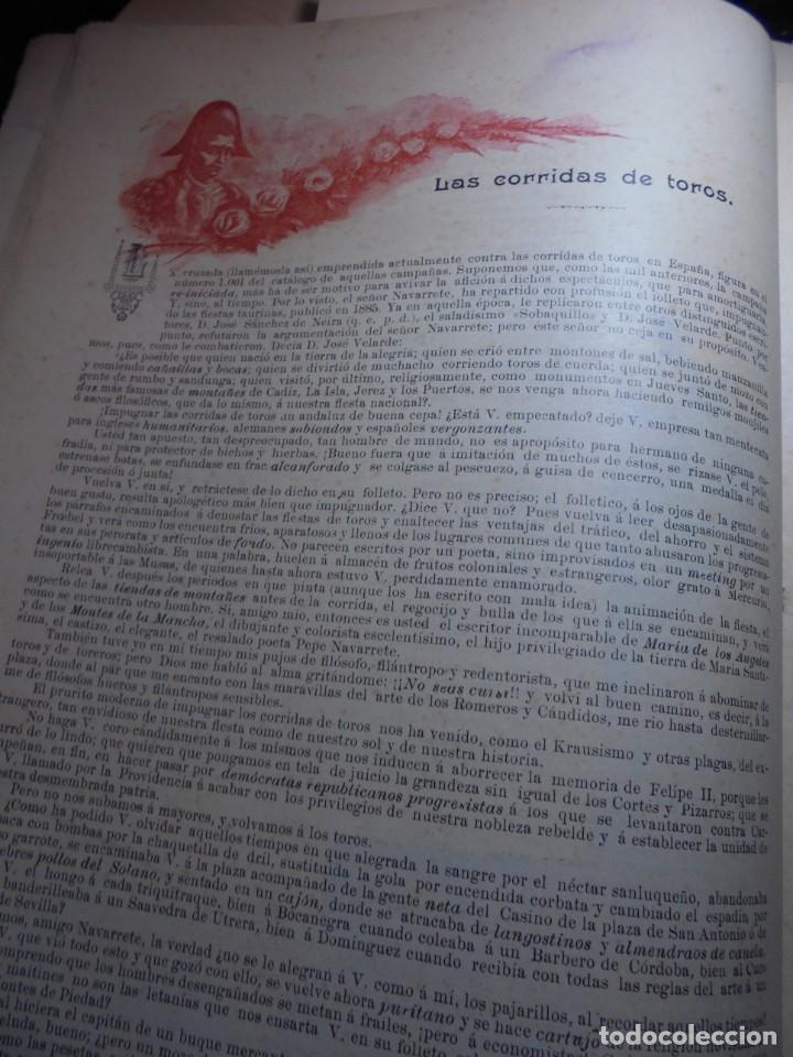 Tauromaquia: magnificas 8 revistas antiguas la ilustracion taurina del 1901 - Foto 15 - 247329780
