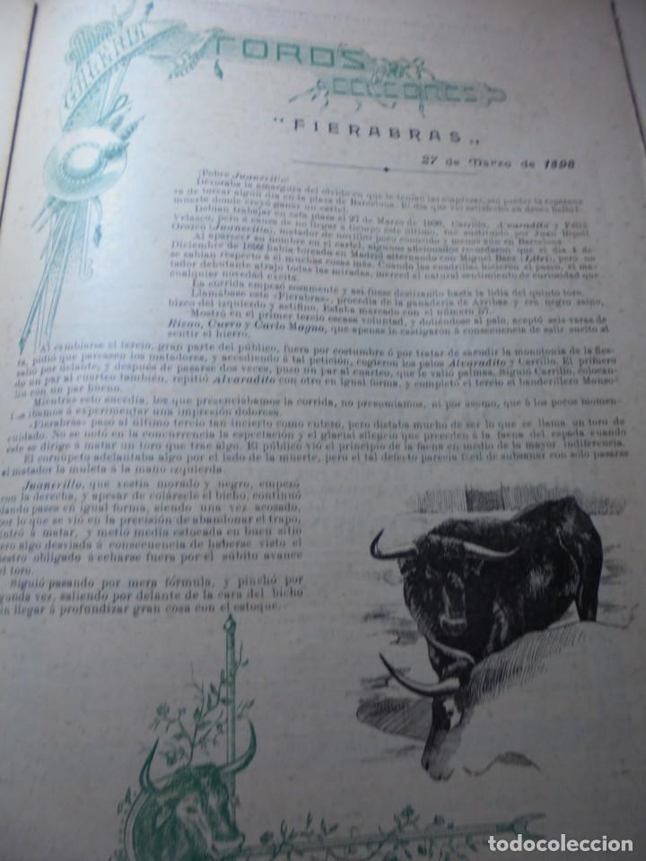 Tauromaquia: magnificas 8 revistas antiguas la ilustracion taurina del 1901 - Foto 20 - 247329780