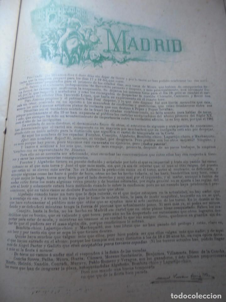 Tauromaquia: magnificas 8 revistas antiguas la ilustracion taurina del 1901 - Foto 22 - 247329780