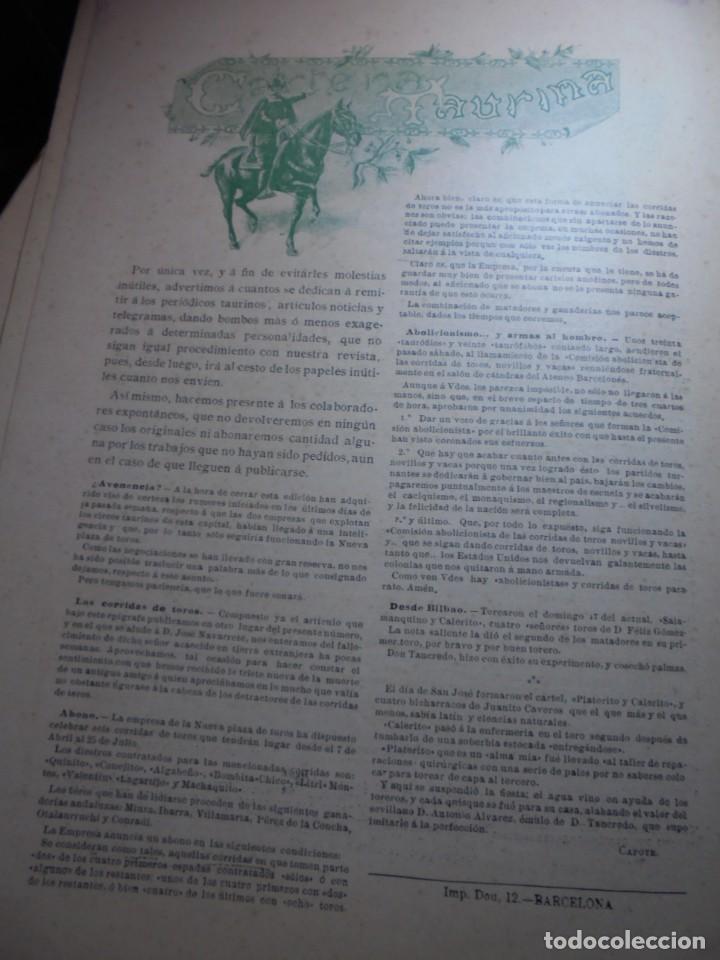 Tauromaquia: magnificas 8 revistas antiguas la ilustracion taurina del 1901 - Foto 23 - 247329780