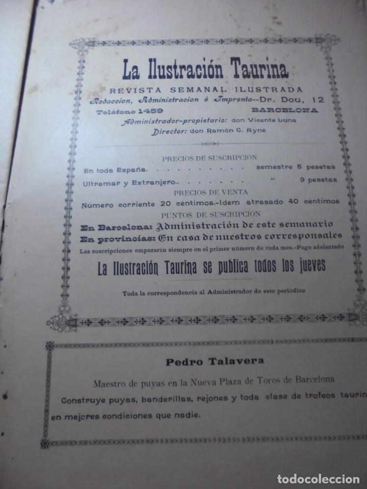 Tauromaquia: magnificas 8 revistas antiguas la ilustracion taurina del 1901 - Foto 24 - 247329780