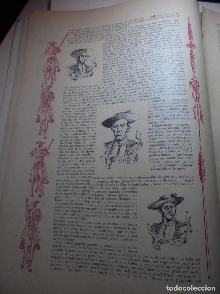 Tauromaquia: magnificas 8 revistas antiguas la ilustracion taurina del 1901 - Foto 36 - 247329780
