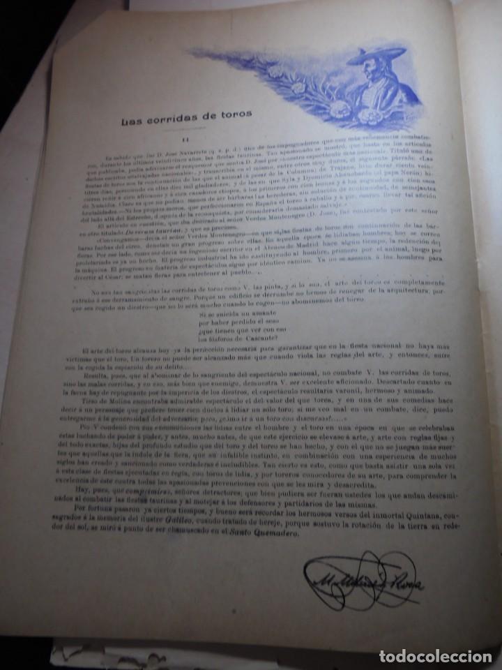 Tauromaquia: magnificas 8 revistas antiguas la ilustracion taurina del 1901 - Foto 44 - 247329780