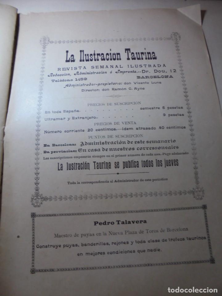 Tauromaquia: magnificas 8 revistas antiguas la ilustracion taurina del 1901 - Foto 47 - 247329780