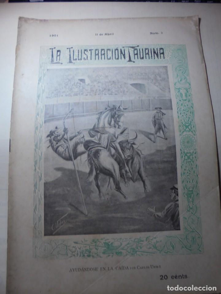 Tauromaquia: magnificas 8 revistas antiguas la ilustracion taurina del 1901 - Foto 49 - 247329780