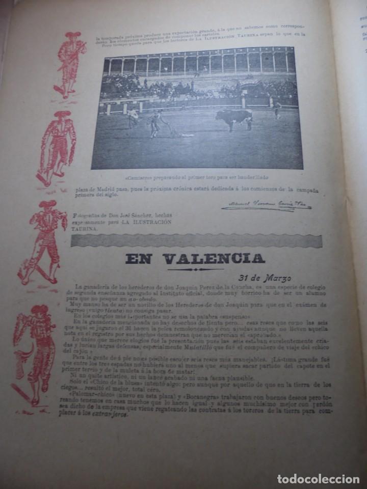 Tauromaquia: magnificas 8 revistas antiguas la ilustracion taurina del 1901 - Foto 65 - 247329780