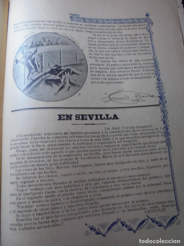 Tauromaquia: magnificas 8 revistas antiguas la ilustracion taurina del 1901 - Foto 68 - 247329780